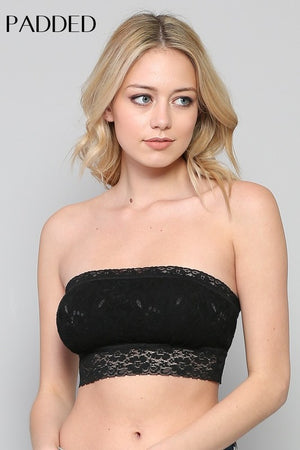 Lace Bandeau with Padding