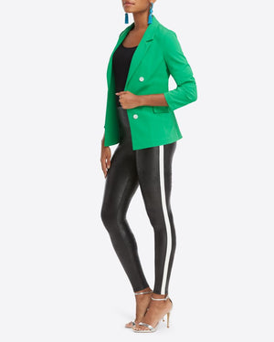 Spanx Faux Leather Side Stripe Legging