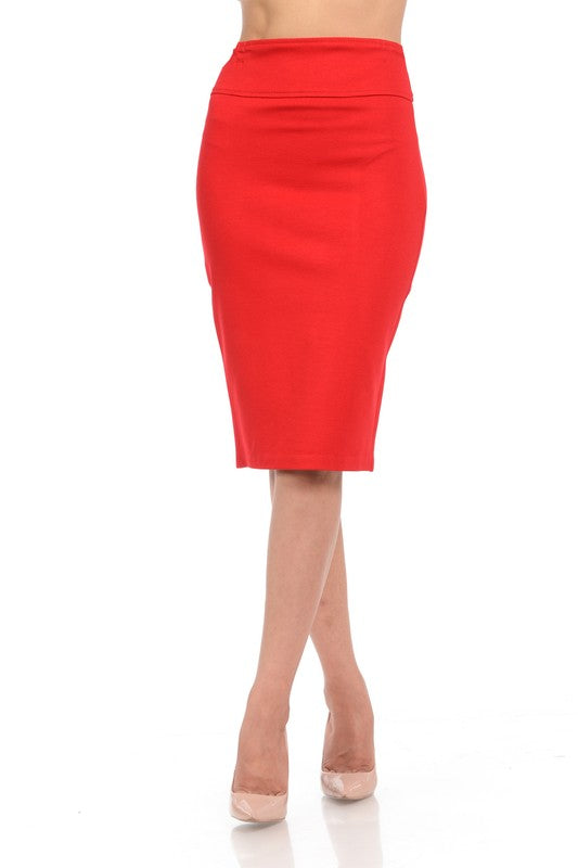 RED-Y to Go Pencil Skirt
