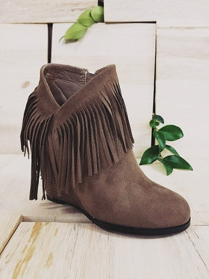 Fringe With Benefits Bootie