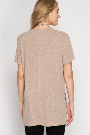 Ribbed Pocket Tee