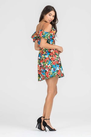 Love & Florals Cold Shoulder Dress