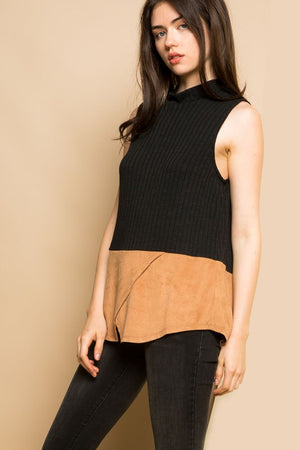Black & Tan Top