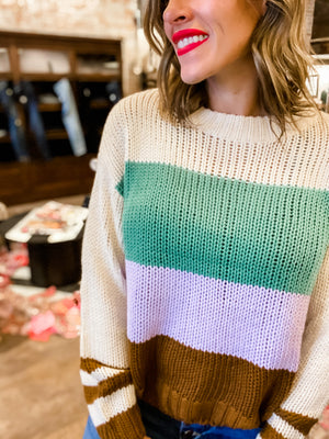 Seeing 2020 Color Block Sweater