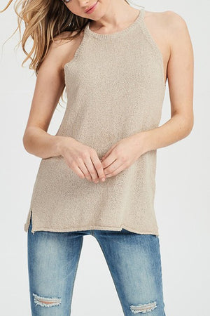 Let's Taupe About It Sweater Knit Tank