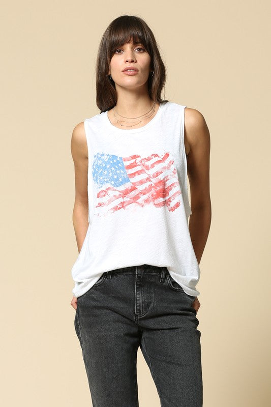 American Flag Muscle Tank