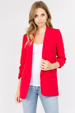 Boyfriend Blazer in Red