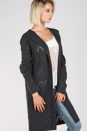 Baby Its Cold Outside Hooded Cardigan