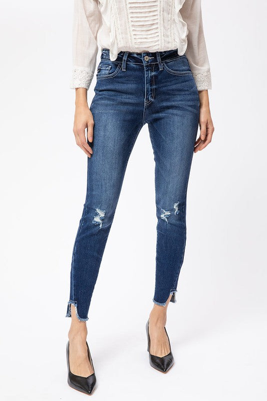 Susie High Rise Ankle Skinny Kan Can Denim