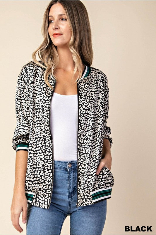 You're The Bomb Leopard Bomber in Black