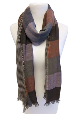 Earth Tones Plaid Scarf
