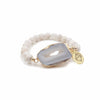 Mint & June Beige Agate Slice Bracelet