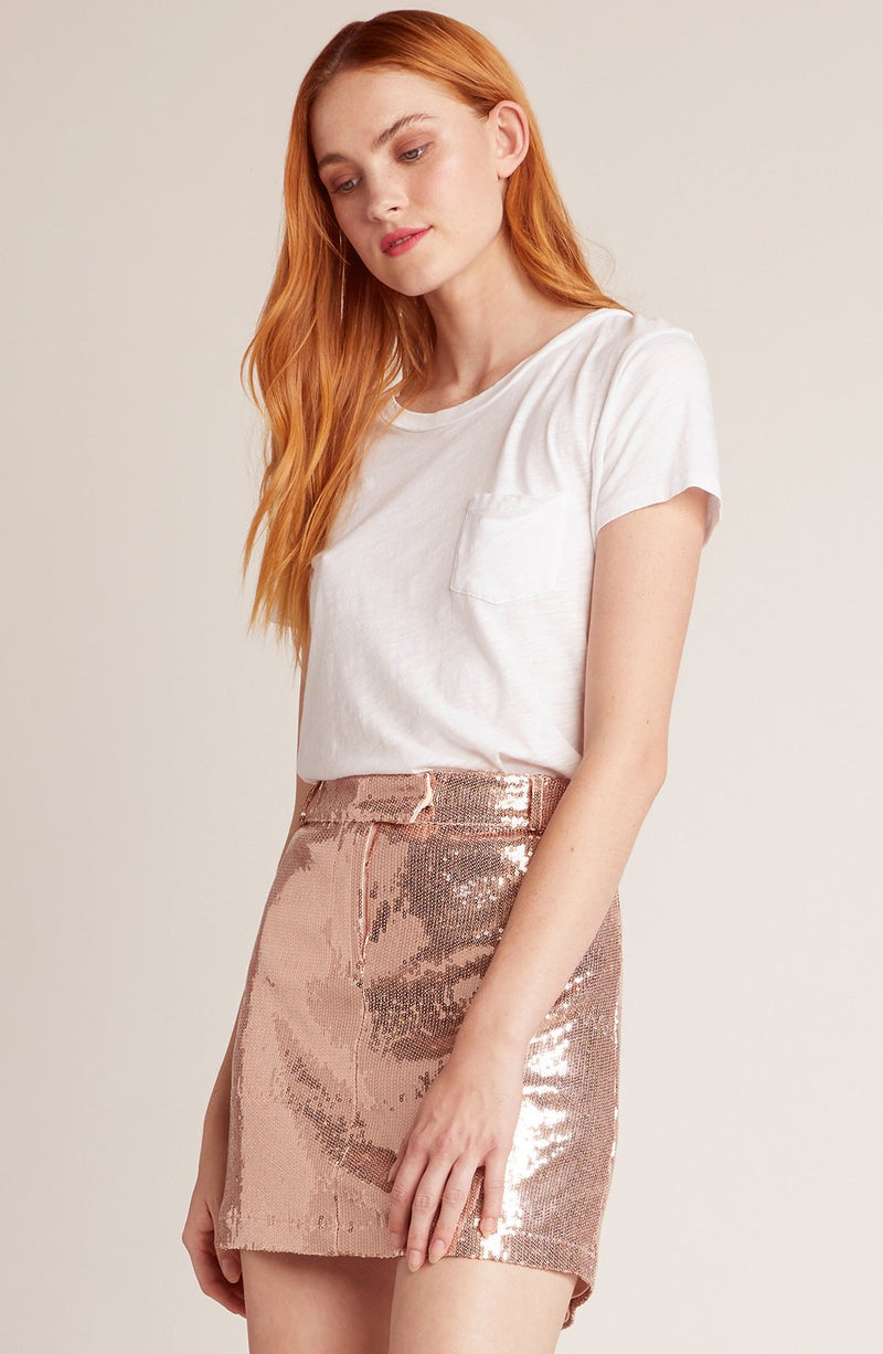 BB Dakota Modern Love Rose Gold Skirt