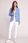 BB DAKOTA Feel It In The Rain Chambray Blazer