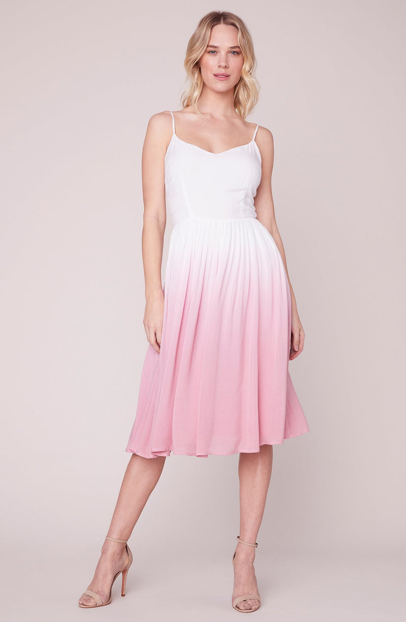 BB DAKOTA PINK SUNSET MIDI DRESS