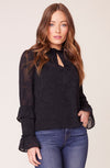 BB DAKOTA I Heart Drama Chiffon Blouse