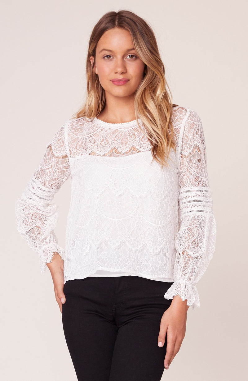 BB DAKOTA SMOKE & MIRRORS LACE BLOUSE