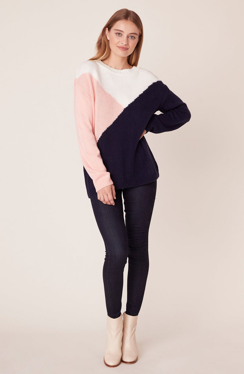 BB Dakota Bunny Slope Sweater Color Block Sweater