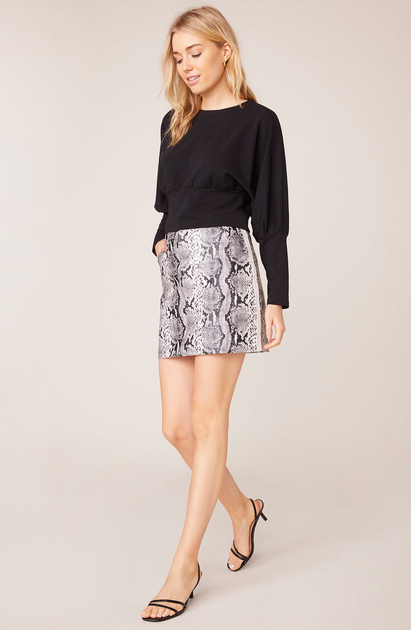 Python The Prowl Vegan Leather Skirt by BB Dakota