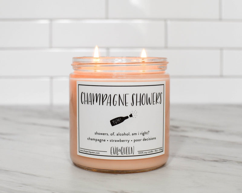 Evil Queen Champagne Showers Double Wick Candle