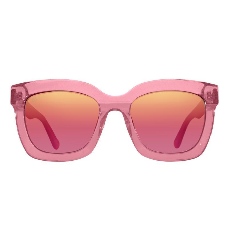 DIFF Carson in quartz glitter + rose gradient gold flash polarized lens