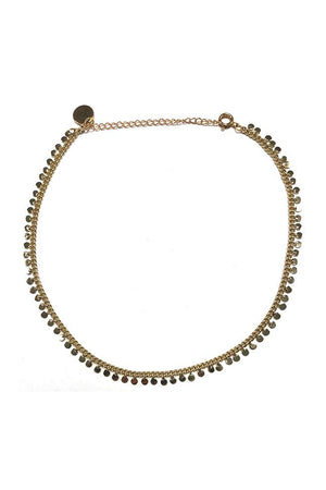 Kristalize Ansley Gold Circle Necklace