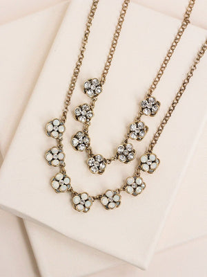 Olive+Piper Daisy Necklace in Clear