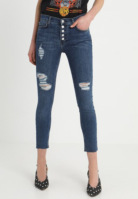 Free People Reagan Raw Hem Denim