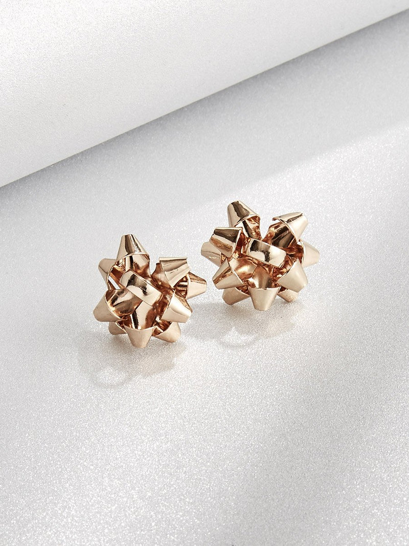 Olive+Piper Festive Bow Studs in Gold