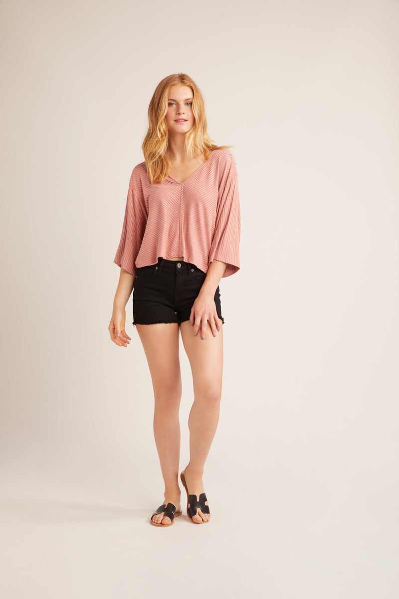 JACK BY BB DAKOTA THROWING SUEDE BLOUSE
