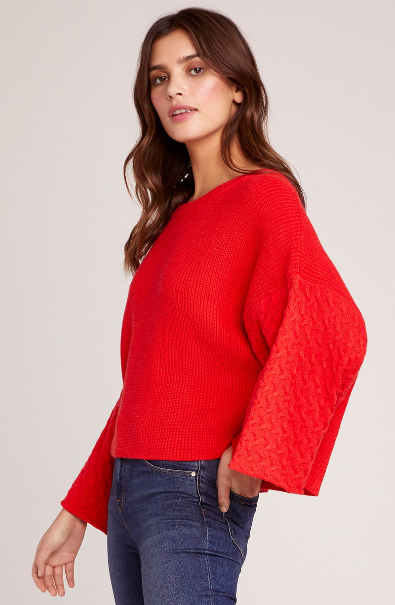JACK BY BB DAKOTA IN THE MIX CROP SWEATER