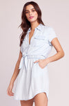 JACK BY BB DAKOTA Chambray You Stay Tie Front Dress