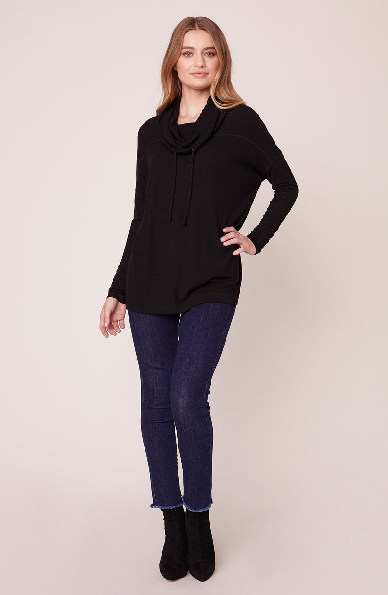 JACK BY BB DAKOTA KNIT YOUR DAY JOB COWL NECK TUNIC