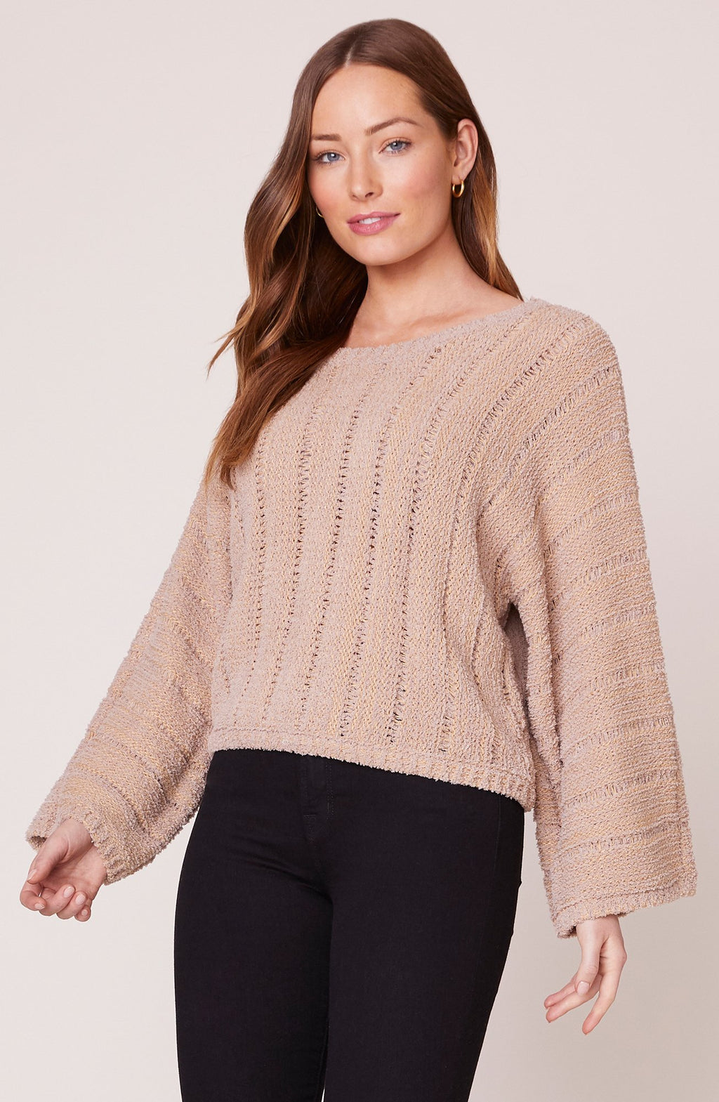 JACK BY BB DAKOTA SLIDE RIGHT SWEATER IN HAZELNUT