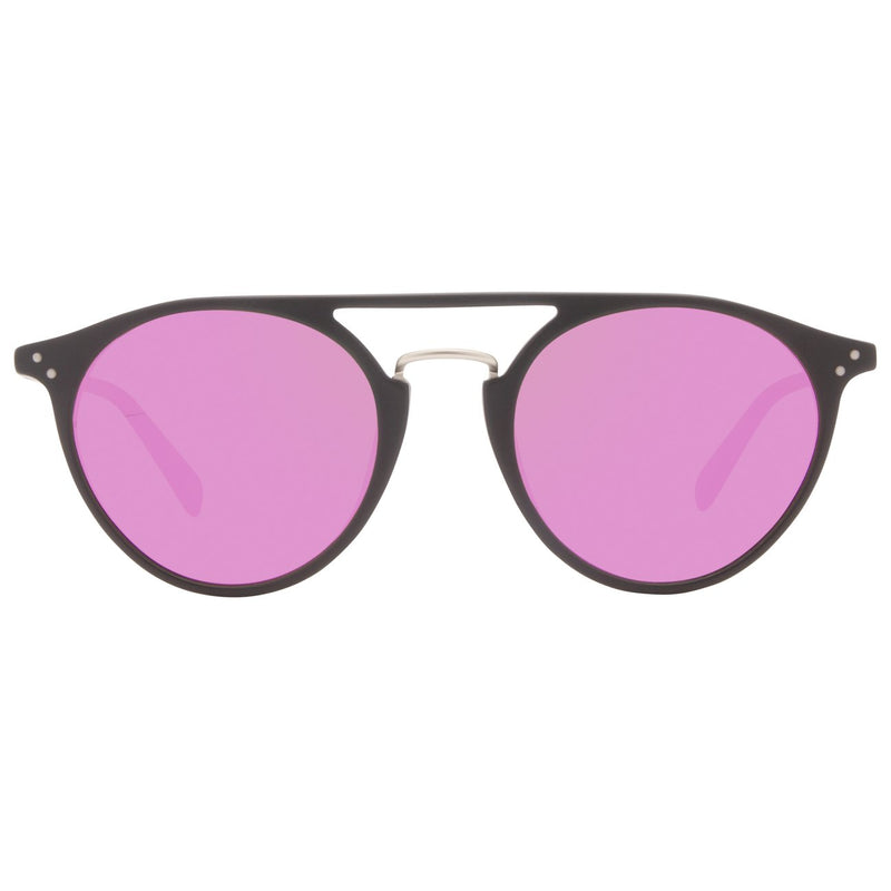DIFF Mason Sunglasses in matte black + pink mirror polarized lens