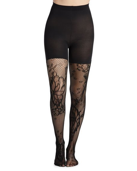 SPANX Fishnet Floral Tight