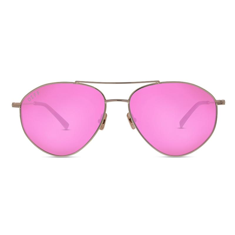 DIFF Scout gold + pink mirror polarized lens