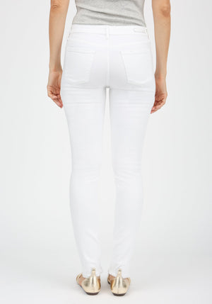 Articles of Society Sarah Cut Off Hem White Denim