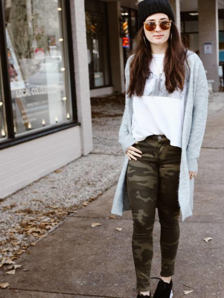 Blank NYC Reade Ankle Crop in Camo