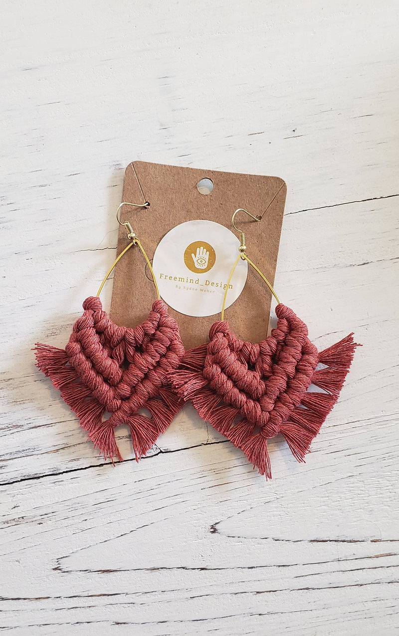 Cinnamon Macramé Lima Earrings
