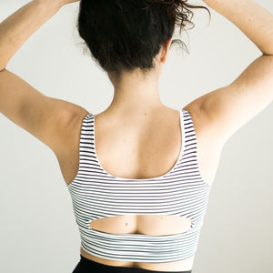 DYI Black & White Stripe Elevate Bra