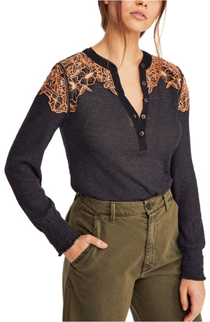 Free People Easy Breezy Henley