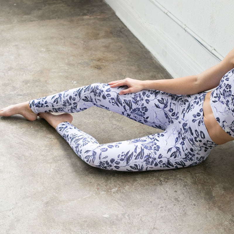 DYI Lilac Navy Floral Signature Tight