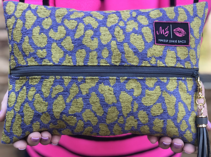 Makeup Junkie Bag in Jungle Cheetah