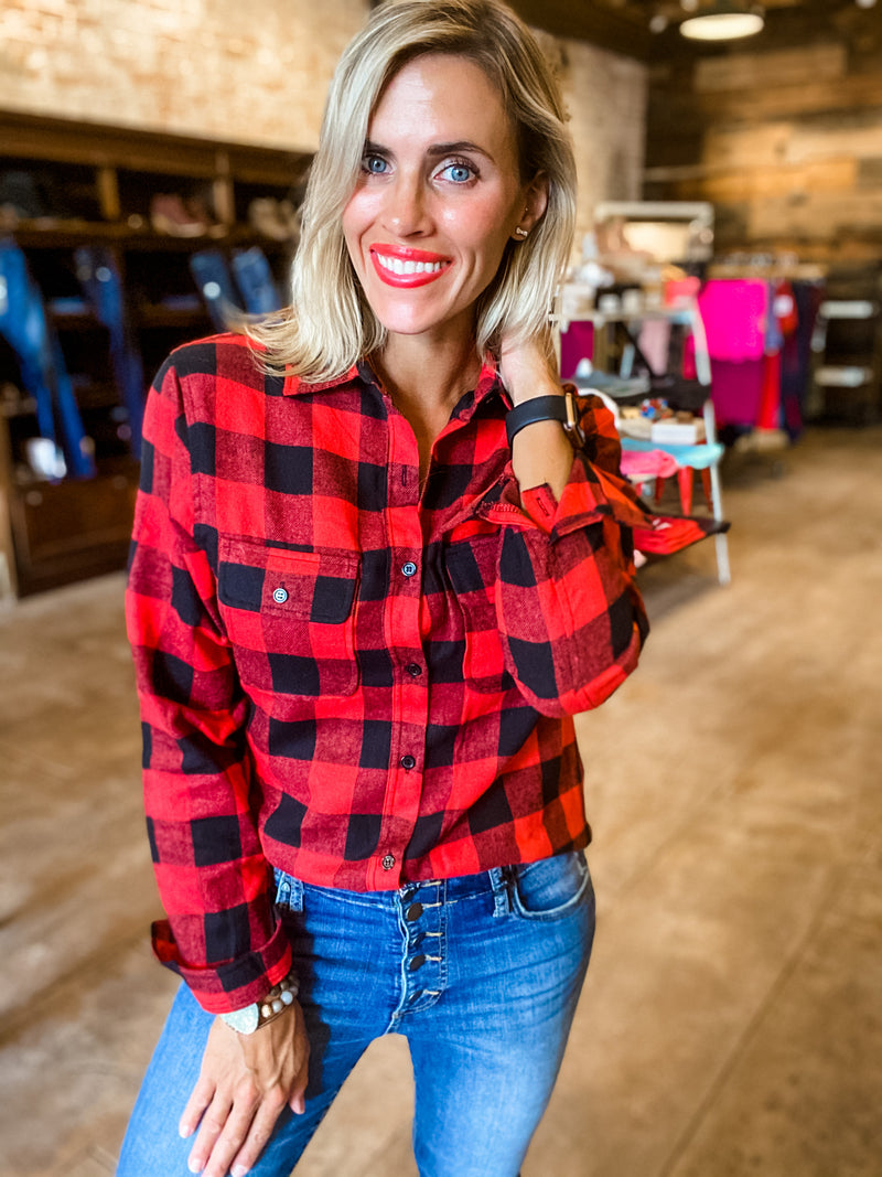 Fireside Buffalo Plaid Flannel Shirt