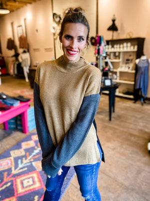 Color Me Neutral Mock Neck Sweater