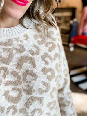 Not Meow Leopard Sweater