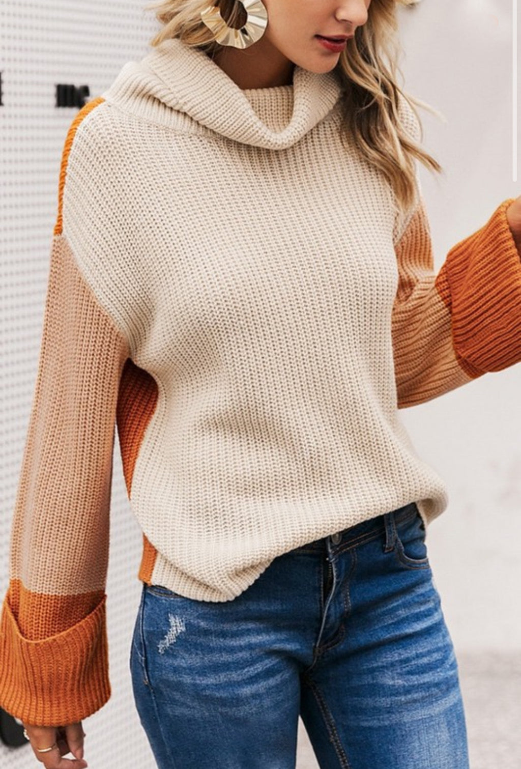 Weekends Are My Favorite Color Block Sweater