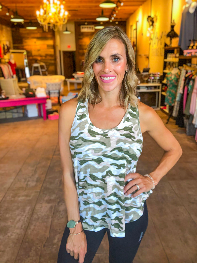 Bobi Blush Camo Swing Tank