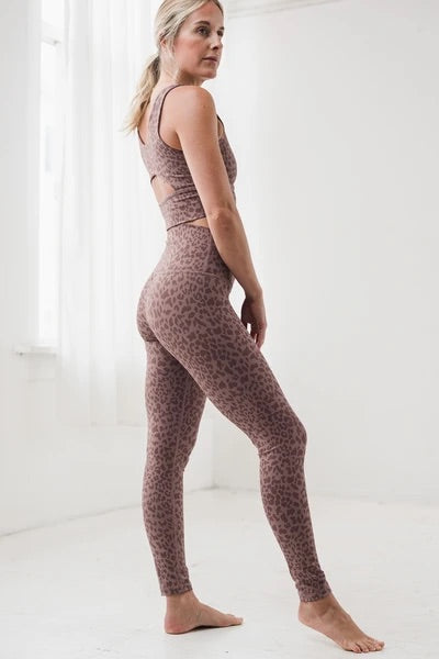 DYI Printed Signature Tight in Taupe Leopard